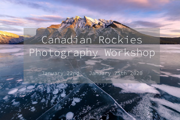A photography workshop in the Canadian Rockies in Winter 2020