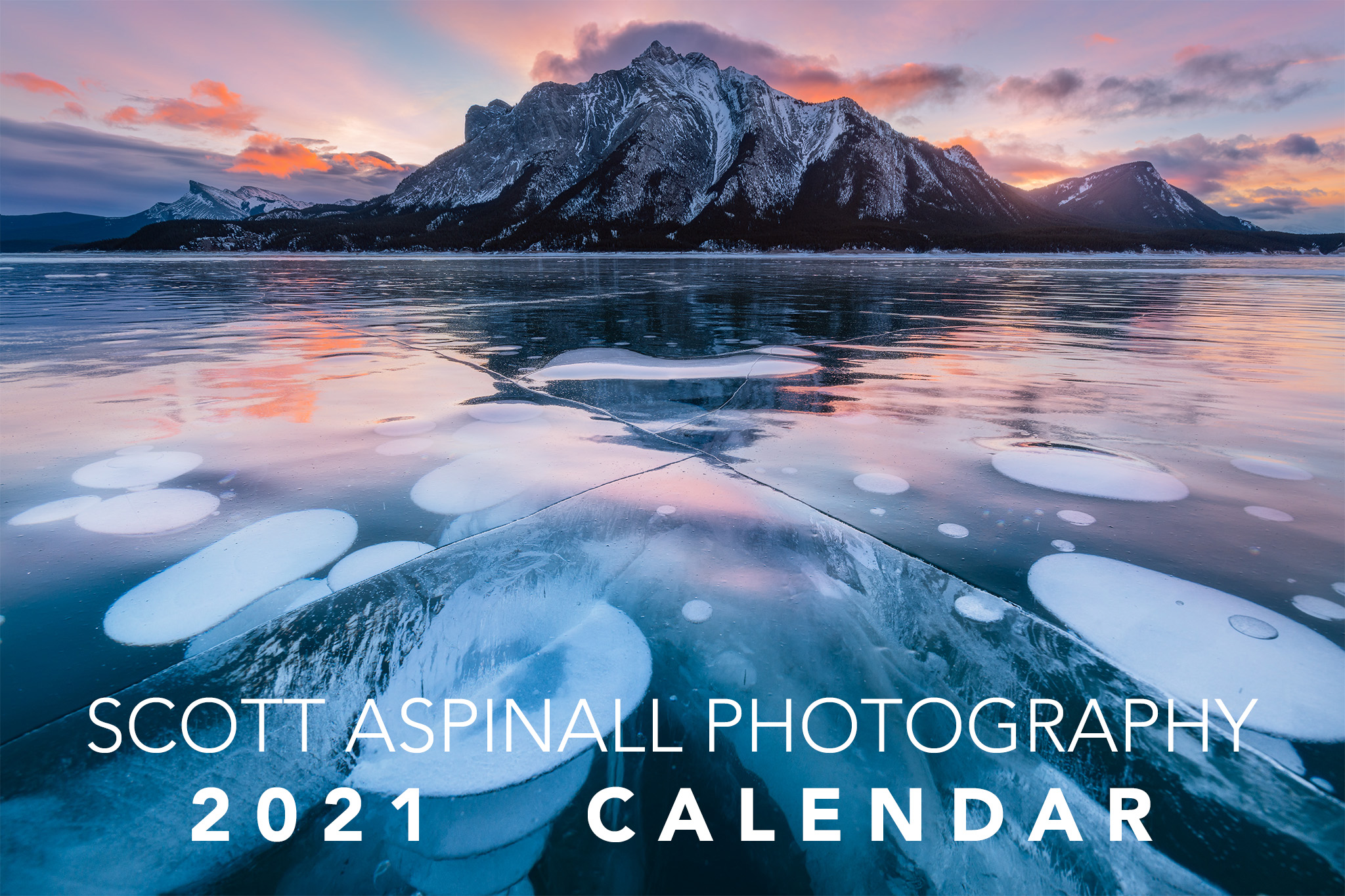 The cover photo for Scott Aspinall Photography's 2021 landscape photography calendar