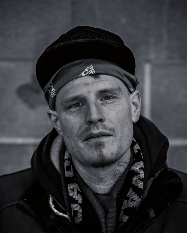 A portrait of a homeless man in Regina, Saskatchewan