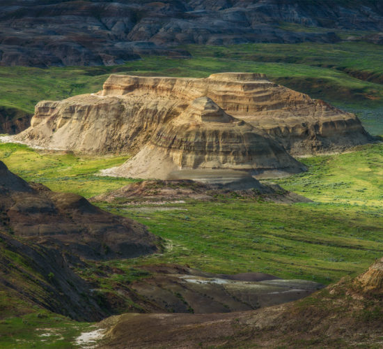 An intimate landscape photograph of the badlands at The Valley Of 1000 Devils in Grasslands National Park, Saskatchewan