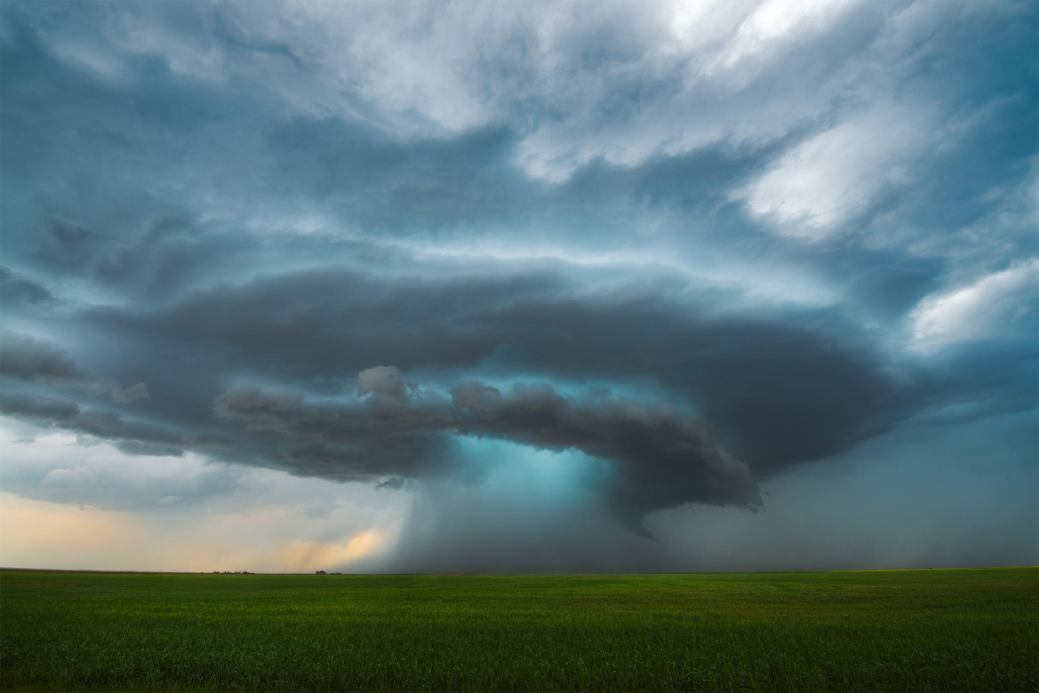 A supercell thunderstorm near Central Butte, Saskatchewan